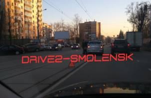 В Смоленске авария заблокировала движение трамваев