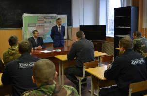 Смоленские сотрудники ОМОН встретились с отцом Героя России Магомеда Нурбагандова