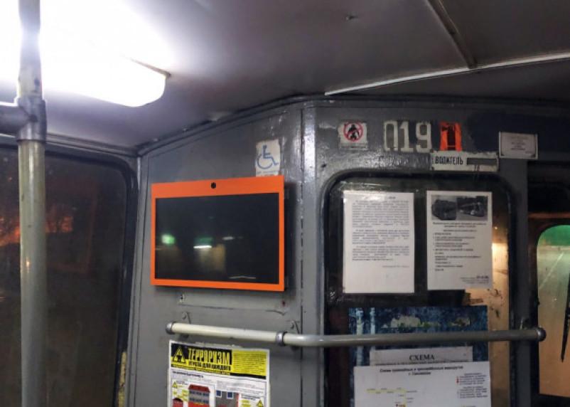 Смоляне заметили в троллейбусах информационные мониторы
