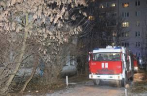Эвакуированы взрослые и дети. Пожар вспыхнул на переулке Смирнова в Смоленске