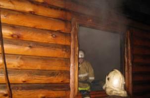 Ночью в Смоленской области горели бани