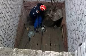Смоленские спасатели нашли Еву в шахте лифта разрушенного дома в Пригорском