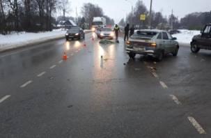 В Смоленской области на пешеходном переходе насмерть сбили женщину