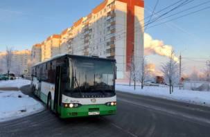В Смоленске с 1 января изменится график движения автобусов
