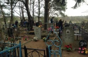 В Смоленске разграбили кладбище. Пропали ограды, калитки, декоративные цепи