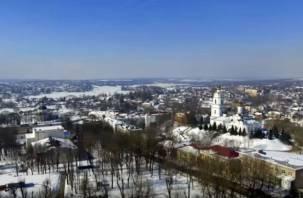 Город Смоленской области сняли с высоты птичьего полета