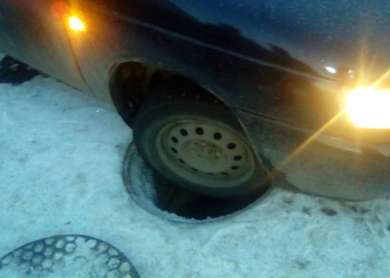 В Гагарине машины попали в ловушку
