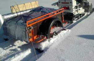 В Смоленской области задержали мужчину с рогатым трупом в прицепе снегохода