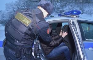 Пытался спрятать лицо. Бойцы Росгвардии поймали двух преступников в федеральном розыске