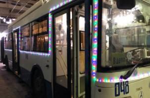 В Смоленске выйдет на рейс новогодний троллейбус