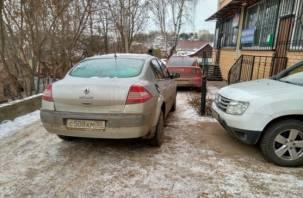 Смоленского автохама наказали за неправильную парковку
