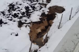 В Кощино прорвало отремонтированную теплосеть