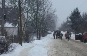 В Сети появилось видео с места эвакуации людей из ТЦ «Юнона» и школы №21