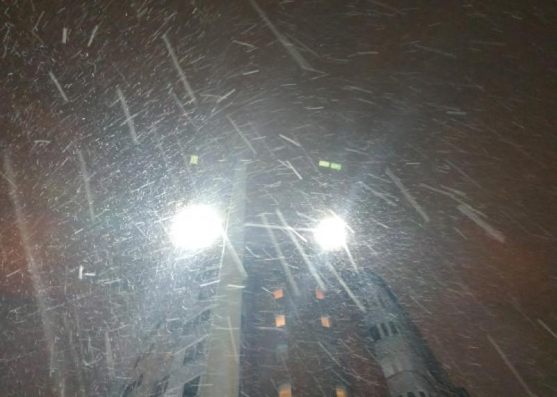 Воскресная погода: снег, дождь и сильный ветер