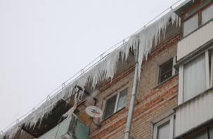 ОНФ: «В Смоленске работа по уборке снега и льда с крыш домов коммунальными службами практически не ведётся»