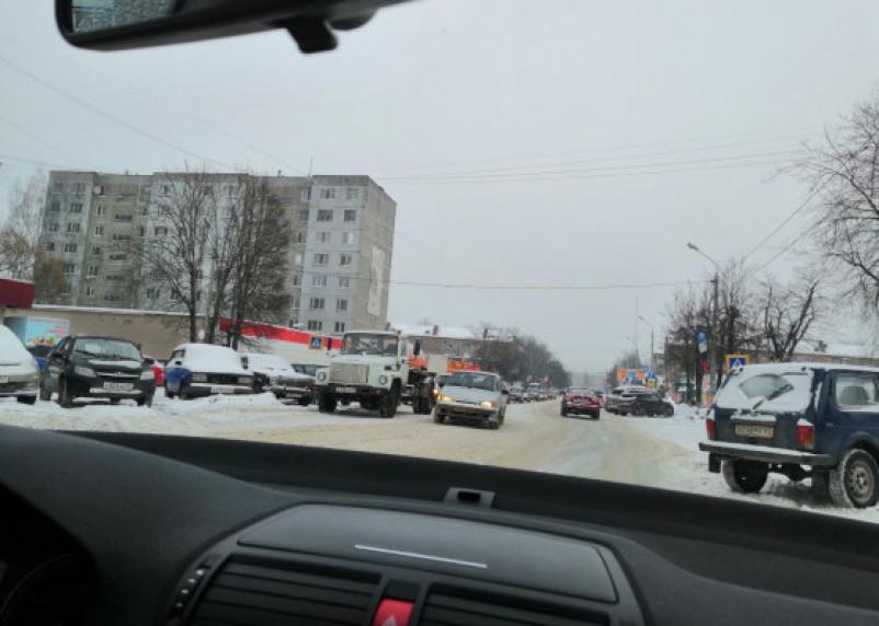 В Смоленске из-за ДТП возникла пробка на Багратиона