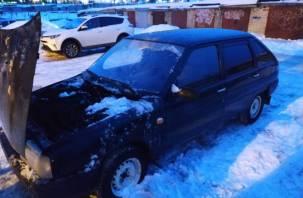 В Смоленске полыхал автомобиль