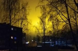 «Жёлтые ночи». Рославльчане радуются необычному освещению