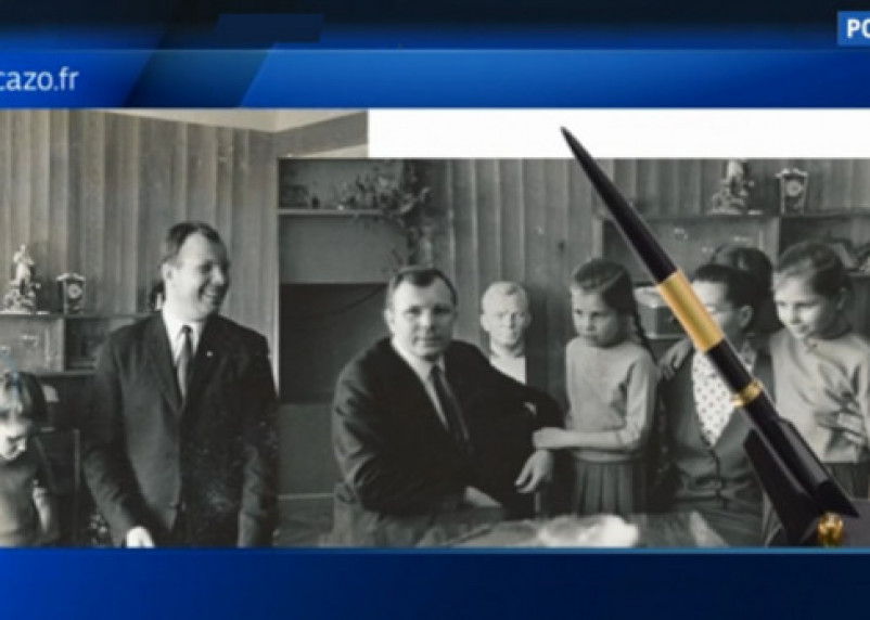 Французский аукционный дом выставил на торги ручку и фотографии Юрия Гагарина