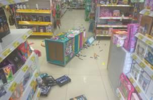 Мужчина устроил погром в магазине и угрожал продавцам канцелярским ножом