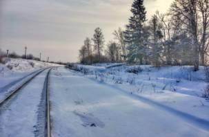 В Смоленской области фура въехала в железнодорожную будку
