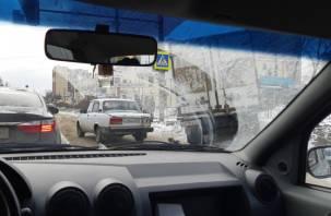 В Смоленске ДТП на Крупской собрало пробку