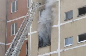 Есть пострадавший. В Смоленской области горела квартира