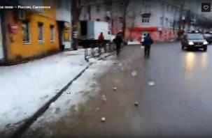 Минное поле в центре города сняли на видео смоленские активисты