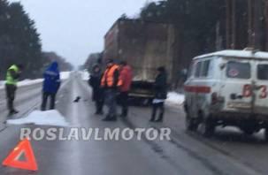 Тело накрыто простыней. В Смоленской области в жёстком ДТП погиб человек