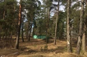 Военные снова захламили Красный Бор в Смоленске