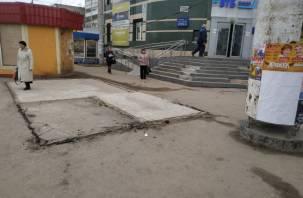 Смоляне жалуются на снесённую остановку на Киселёвке