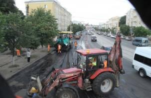 В Смоленске пересмотрели планы по ремонту проспекта Гагарина