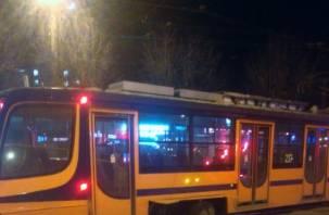 В Смоленске на Багратиона сошёл с рельсов трамвай