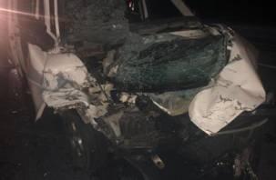 В тройном ДТП с автобусом в Смоленской области пострадал человек