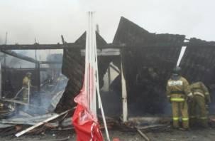 Шашлык из шашлычной. В Смоленской области на М-1 сгорело кафе