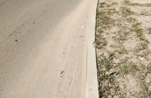 Улицы «зарастают» песком. Смоляне вынуждены дышать пылью
