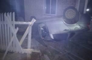 В Рославле дама на машине протаранила дом и ушла
