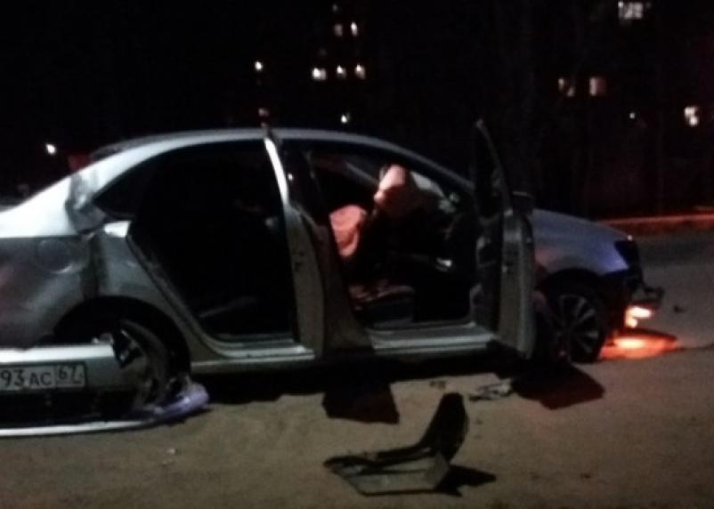 В Смоленской области ДТП изуродовало машины