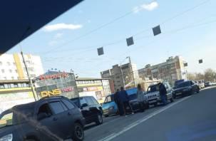 Из-за аварии на Крупской образовался затор