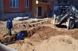 В Смоленске на Кловке прорвало газопровод. В пяти многоэтажках отключили газ