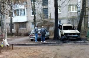 В Смоленске на Кирова сгорели две машины