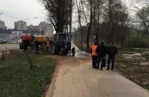 Смолянам вернули воду после аварии на Краснинском шоссе