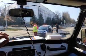 Мешают проезду. В Заднепровском районе столкнулись две иномарки