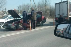 Видео тройного ДТП на Рославльском шоссе появилось в Сети