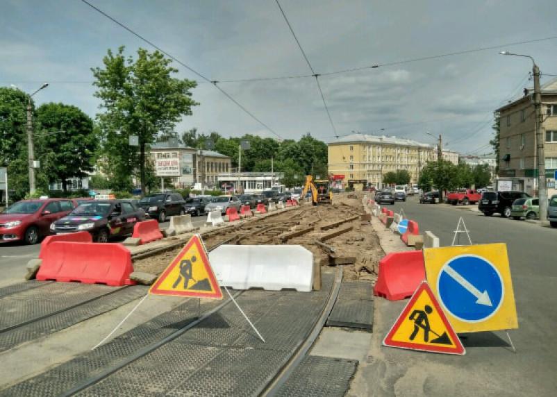Во время ремонта проспекта Гагарина украли ковш экскаватора