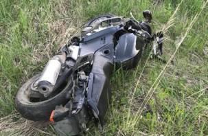 В Рославльском районе погиб мотоциклист