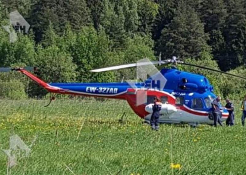 В Подмосковье совершил жёсткую посадку вертолёт, летевший на Смоленщину