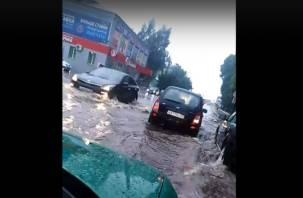 Ливень и град обрушились на Рославль. Видео буйства стихии попали в сеть