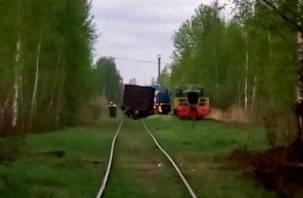 В Сафонове с рельсов сошел грузовой вагон