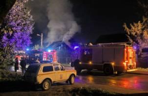 В Смоленске на Королёвке в горящем гараже пострадал человек